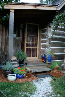 Modern Homesteading front door.