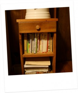 Heirloom bookshelf.