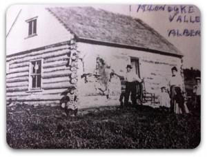 Pioneer log house