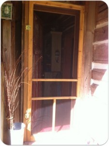 Completed screen door repair.