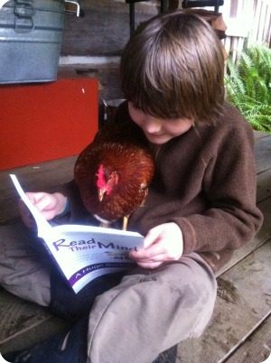 Jonah and Lucky Wattles reading Read Their Minds