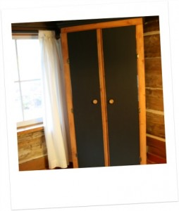 Office armoire - closed.