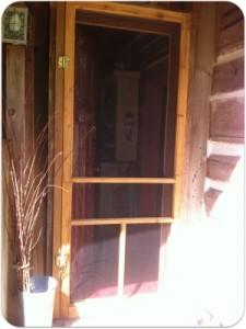 Completed screen door repair.
