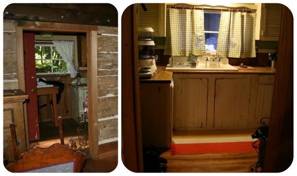 Log cabin kitchen renovation